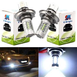 Smd brilhante levou carro 12v on-line-YM E-Bright 2 PCS H4 16 SMD 3535 80W Hi / Lo LED faróis nevoeiro Auto Lâmpadas Faróis Nevoeiro Branco Car Styling 12V 24V nonpolarity