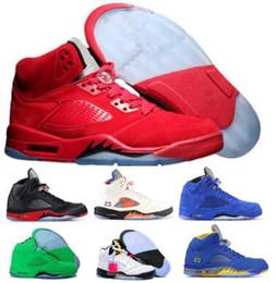 Barato 5 5s Zapatos de baloncesto Zapatillas de deporte Hombre Mujer Hombre Alas de ante rojo Bred Laney Vuelo Orande Olímpico Uva Oregon Ducks 2019 Zapatos de diseño desde fabricantes