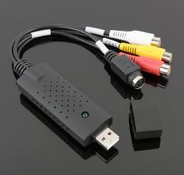 Dvd erfassen online-2019 USB 2.0 Video Audio Capture Card Geräteadapter VHS VCR TV zu DVD Converter unterstützt Win XP / Vista / 7/8/10