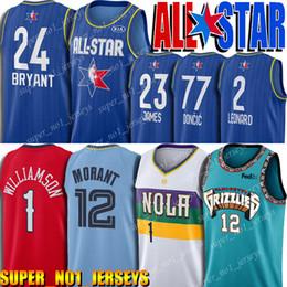 2020 estrellas de baloncesto 12 Ja Morant 1 Sion Williamson Jersey TodosEstrella de Jersey 2020 de baloncesto Lebron James 23 77 Luka Doncic Kawhi Leonard 2 Jersey estrellas de baloncesto baratos