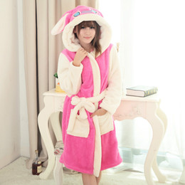 be42671065 Animal Winter Robe with Hood Women Men Flannel Warm Hooded Bathrobe  Nightgown Long Fleece Robes
