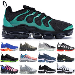 Rosa usa online-2019 TN Plus nike vapormax Nero Clear Emerald Uomo Donna Sneakers Bumblebee Grape Game Royal Designer Scarpe Ultra White Wolf Grey USA 5-11