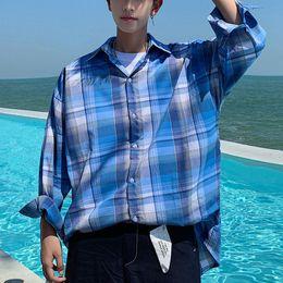 Erkek üç çeyrek kol pazen gömlek xxxl ekose gömlek 2019 Kore moda rahat gömlek hip hop streetwear giyim CS30 nereden