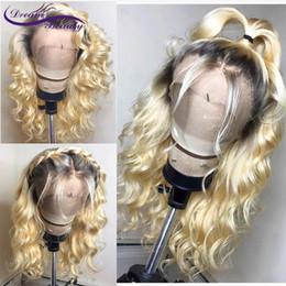 Peluca suave de la onda floja natural del cordón 360 con el pelo del bebé Ombre Blonde 613 Peluca delantera del cordón Pelucas sintéticas sin cola para las mujeres desde fabricantes