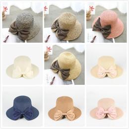Canada Femmes Chapeaux De Paille Avec Noeud Réglable Chapeau De Soleil Snapback Mode Pliant Gorras Hip Hop Femmes Soleil Bonnet cheap adjustable straw hats Offre