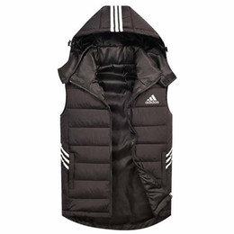 2019 jaqueta de trabalho de inverno Marca Men Moda Casual mangas Quente Jacket trabalho dos homens Coletes Coats capuz Masculino Inverno Vest Colete jaqueta de trabalho de inverno barato