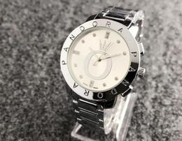 Neue pandora online-Neue männer diamant pandora uhr edelstahl luxus casual armbanduhr stahl quarzuhren mk dz dw frauen uhr