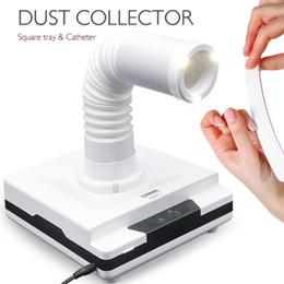2019 colectores de polvo Colector de polvo de uñas 60W 4500 rpm aspirador para manicuras limpiador de polvo de succión codo retráctil clavo colector de polvo colectores de polvo baratos