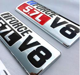 Etiqueta engomada del cuerpo de toyota online-3D Metal IFORCE 5.7L V8 Logo Car Body Emblemas Calcomanías de guardabarros Insignia Etiqueta Fit Toyota