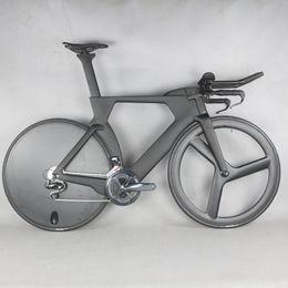 quadro de bicicleta de pintura Desconto Completa Bicicleta TT Bicicleta Tempo Trial Triathlon Fibra De Carbono De Carbono cor preta Pintura Quadro com DI2 R8060 groupset