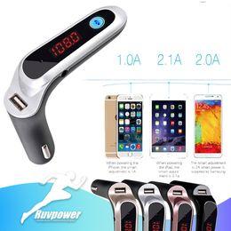 2019 azionamento flash sony Nuovo kit veicolare Vivavoce FM Radio Adapter Adattatore per auto LED Supporto TF Card Trasmettitore FM Wireless USB Flash Drive Uscita ingresso AUX azionamento flash sony economici