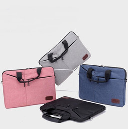 ordinateurs portables ultrabook Promotion Porte-documents Hommes Laptop Sleeve Case Sac à main Sacs de protection Ultrabook ordinateur portable Solid Casual Male Sacs d'affaires Porte-documents
