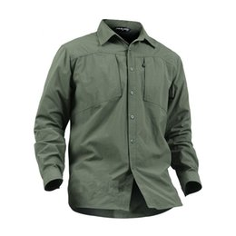 34e04366086 2018Men breathable Anti-wear Spring autumn outdoor hiking waterproof quick  dry mesh anti UV long sleeve shirt male tactical tops