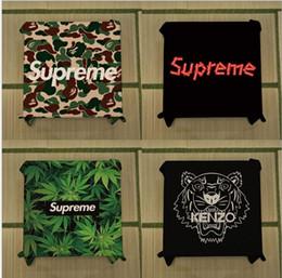 2019 mantel redondo bordado Carta Cabeza de tigre Marca Mantel Hip Hop Estilo Americano Vintage Tela de algodón Arte Mesa de té Mantel rectangular Mantel de mesa impermeable