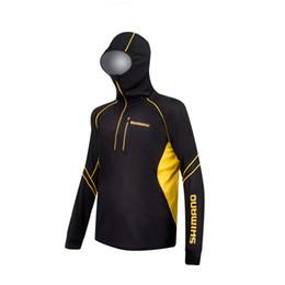 Roupas de gelo seco on-line-2017 Nova Pesca Com Capuz de Verão Roupas Quick-dry Ice-cool Zipper Proteção Solar Longo-luva Caminhadas Camisas De Pesca