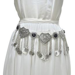 Cinturones de cadena grandes online-moda correa de las mujeres retro estilo étnico borla decorativa cadena de la cintura del vientre danza hembra grande correa femenina