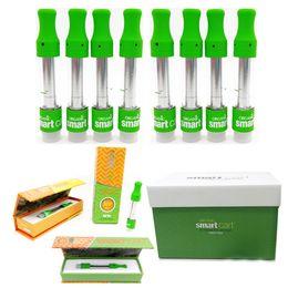 2019 Smart Cart SmartCarts Nuevo embalaje Caja magnética Cartuchos de Vape verdes 1.0 ml para 510 hilos Vape Pen Ceramic Coil Aceite atomizador grueso desde fabricantes