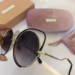 quadros de óculos redondos atacado Desconto Marca Designer Atacado Óculos De Sol Clássico Óculos Redondos óculos de Sol para As Mulheres Óculos de Condução Full Frame UV400 Lentes com Caixa