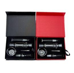 Micro tubulação on-line-60 Pcs MINI Micro 10mm Kit Coletor de Néctar com GR2 Titanium vidro Prego de mel de canudo tubos de água bong Vaporizador Caixa De Presente Kit