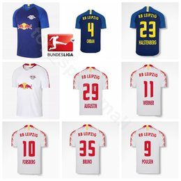 910333bb644 FC Leipzig Bundesliga 35 BRUNO Jersey 18 19 Season Soccer 4 ORBAN 21 MULLER  27 LAIMER Football Shirt Kits Uniform Custom Name Number