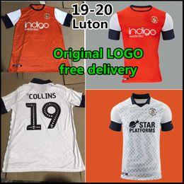 2019 cozinhar uniformes 19 20 Luton Town Camisa de futebol 2019 Luton Town # 9 HYLTON # 10 COOK # 8 McGeehan Camisa de futebol # 14 Marriott uniforme de futebol desconto cozinhar uniformes