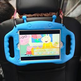 capas de ipad do ipad dos desenhos animados Desconto miúdo dos desenhos animados Carry Case amigável para iPad 2018 2017 Silicone Case A1822 A1893 lavável à prova de choque para iPad Air Pro 9.7 com cintas