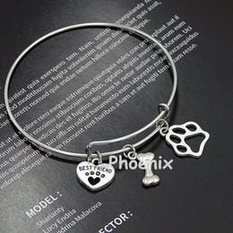 Gants de patte de chien en Ligne-Camping remorque-voyageur avec feu et trouver la joie dans le voyage bracelet de charme bracelet gants de baseball cap bâton charme chat chien patte bracelet