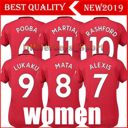 alexis jersey Promo Codes - 19 20 Woman United 6 POGBA Red devil soccer jersey 2019 2020 9 LUKAKU 7 ALEXIS Shirt girl LINGARD RASHFORD MATA Football uniform Sales