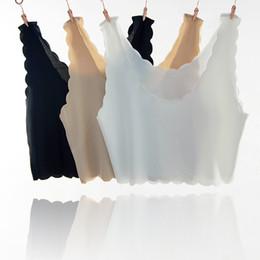 Luce del tubo ghiacciato online-B-Ice senza spalline in seta senza maniche con bottoming leggero gilet a canotta femminile senza maniche scaldacollo t-shirt senza maniche