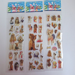 Cartazes cães on-line-Atacado 20pcs / Lot 3d Styling Dogs carro dos desenhos animados adesivos Crianças Diy Adesivos De Paredes Decalques Animais Mural Arts Pvc Movie Poster