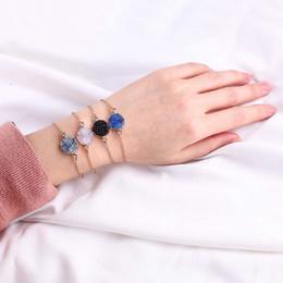 Resine a buon mercato online-Catena resina braccialetto di pietra naturale Druzy Drusy placcatura in oro Bracciale braccialetto dell'annata per ragazze eleganti delle donne migliori regali gioielli economici