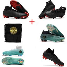 4207520e4 2018 New High Tops Soccer Cleats x PSG ACC Mercurial Superfly VI 360 Elite  FG Football Boots CR7 Cristiano Ronaldo Neymar JR Soccer Shoes