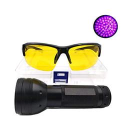 japanische taschenlampe Rabatt UV-Taschenlampe Multifunktions-Schwarzlicht 51 LED mit UV-Schutzbrille Detektor für Camping Wandern im Innenbereich im Freien arbeiten Erkennung
