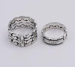anelli in argento sterling Sconti Fashion Brand designer 925 argento Nightclub YS Gioielli hip hop vintage argento antico fatto a mano Hip hop uomo e donna L anelli regalo
