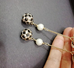 Nuove donne orecchini orecchino di goccia! Orecchini in cristallo blu e nero con accessori per orecchini da l'imbarcazione coreana all'ingrosso fornitori