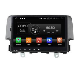 """Roda de ligação on-line-4 GB de RAM 64 GB ROM Android 8.0 Octa Núcleo 9 """"Carro DVD Rádio GPS para Honda Civic 2016 Bluetooth WI-FI USB espelho-link controles de volante"""