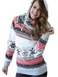 maglioni di neve di natale Sconti Pop2019 Wind Nation Christmas Printing Snow Oblique Zipper Tenere al caldo anche il cappello Catch Down Girl Sweater