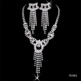 classic pearl set Coupons - 2019 Elegant 15043 Silver Plated Pearl & Rhinestone Bridal Necklace & Earrings Jewelry Set Cheap Accessories for Evening