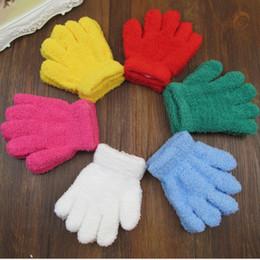 детские желтые перчатки Скидка Yellow Cute Kids Children Gloves Hand Mittens Warm Winter Boy Girls Accessories