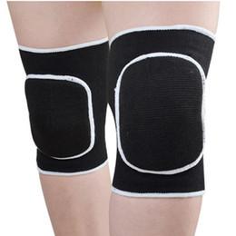 rodilleras de baile Rebajas 1 par de rodilleras protector elástico antirresbaladizo de la manga de la rodillera de la rodilla ayuda para caminar el baile corriente