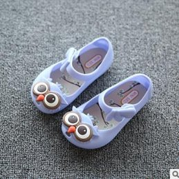 sandalias de búho Rebajas 2019 Hot Baby Girl Summer Cute Beach Sandalias de dibujos animados búho jalea zapatos boca boca sandalias niñas princesa zapatos de alta calidad al por mayor
