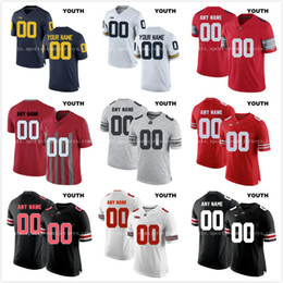 65981692ab0 Custom Youth Ohio State Buckeyes College Football Limited white red black  gray Personalized Stitched Any Name Number 16 Barrett Jerseys personalized  college ...