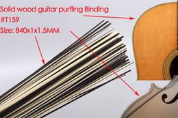 50x bandes de guitare bois purfling reliant les parties du corps de guitare incrusté 840x1x1.5mm ? partir de fabricateur