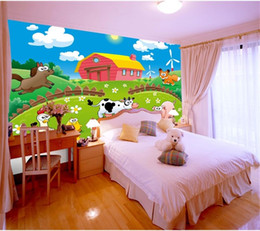japan beds Coupons - custom size 3d photo wallpaper living room bed room mural Cartoon Animal Happy Ranch 3d picture sofa TV backdrop wallpaper non-woven sticker