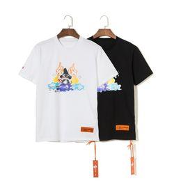 T-Shirt HERON PRESTON 19SS Moda T-shirt Hip-Hop Rap uomo e donna HP Print Oversize HFWPTX274 da pelle di renault fornitori