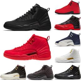 finest selection 88e07 b0ef7 OVO Nike air Jordan Retro 12s Scarpe da pallacanestro uomo rosso WNTR CNY  12s inverno rosso Scarpe da basket XII JUMPMAN 12 toro rosso Gamma Blue Le  scarpe ...