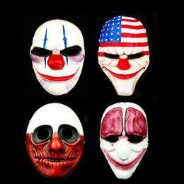 2019 resina di lupi Payday 2 Mask Resin The Heist Dallas / Lupo / Catene / Hoxton Cosplay Halloween Horror Clown Masquerade Cosplay Carnaval Costume Uomini resina di lupi economici