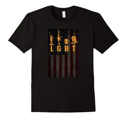 freiheit kurzschlüsse Rabatt Sommer 2019 Kurzarm Plus Size lustige LGBT Liberty Guns Bier Trump Support T-Shirt T-Shirt