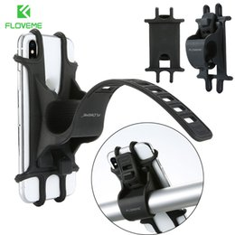 mobile phone motorcycle stand holder Coupons - Floveme Silicone Bike Motorcycle Handlebar Mobile Phone Mount Holder Bicycle Phone GPS Stand Bracket Cradle Universal Adjustable