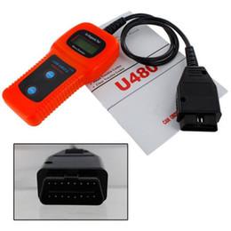 Lectores de códigos de camiones online-Cuidado del automóvil U480 OBD2 OBDII OBD-II MEMO Scan MEMOSCAN LCD Auto AUTO Camión Escáner de diagnóstico Lector de códigos de falla Herramienta de escaneo envío rápido